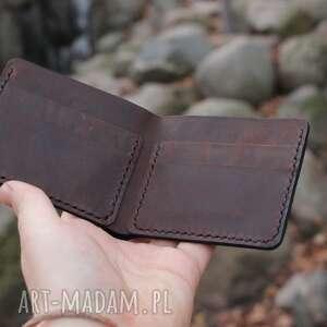 Ręcznie obiony personalizowany portfel skórzany portfele ursus