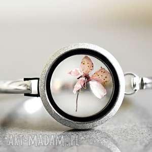 Prezent Oryginalna posrebrzana bransoletka -Kwiat wiśni-, kwiat, wiśni, japońskiej