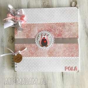 album z sówką - dziewczynka, prezent, roczek, sowa