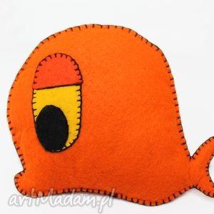 wieloryb krzysztof - zabawki, filc, maskotka, wieloryb