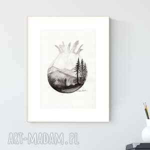 ART Krystyna Siwek? grafika A4 wykonana ręcznie, abstrakcja