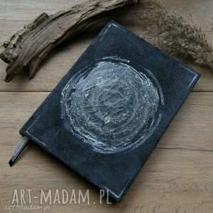 notes a5 ze skórzaną twardą okładką chaos - ręcznie robiony i malowany, kosmos