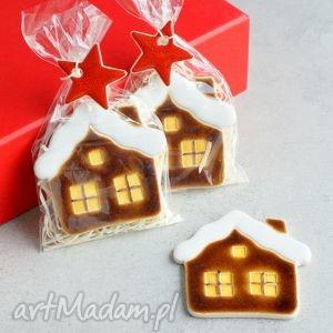 domek - magnes, domek, śnieg, zima, świąteczne, gwiazdka