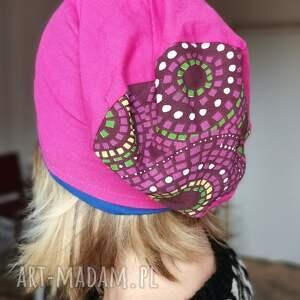 handmade czapki czapka damska dziewczeca mniejszą energetyczna na podszewce rozmiar