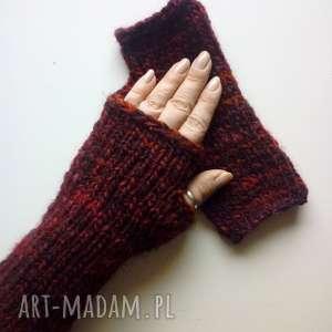 rękawiczki mitenki, rękawiczki, dodatki, wełniane, nadrutach
