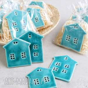 zimowe domki - zestaw magnesów, domek, zimowe, magnesy, ozdób