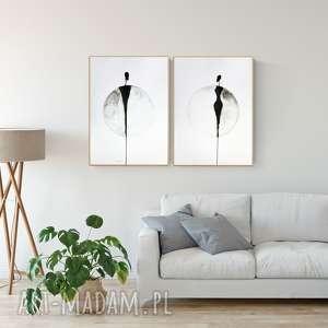 art krystyna siwek zestaw 2 grafik 50x70 cm wykonanych ręcznie, plakat