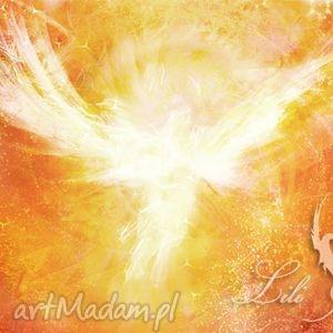 obraz energetyczny - anielski kontakt 2 płótno, obraz, anioł