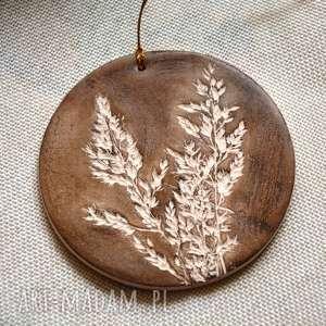 dekoracje ceramiczny wisior, wisiorek, ceramiczny, ceramika, liść