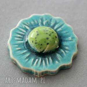 KOPALNIA CIEPLA Kwiat-broszka ceramika