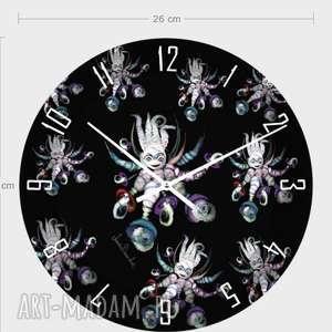 zegar naścienny Ośmiornice Anny Dmowskiej, zegar, dom, dekoracja, nowoczesność