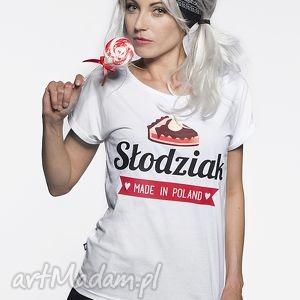 Prezent Koszulka Słodziak !, biała, tshirt, piekna, nadruk, prezent, słodka