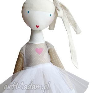 sofia baletowa lalka z sercem - lalka, szmacianka, baletnica, balet, taniec, tutu