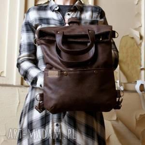 3w1 plecako - torba czekolada vegan na ramię manufakturamms
