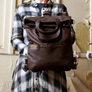 3w1 plecako - torba czekolada vegan, torba, plecak, podróż, lato