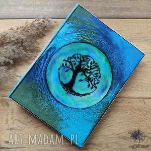 Album na zdjęcia z ręcznie malowaną okładką Drzewo Życia, album, na, zdjęcia, drzewo