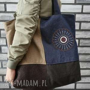 torebki z kawałków 2, xxl, haft, jeans