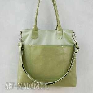 na ramię fiella - duża torba oliwkowa zieleń, modna, oryginalna, wygodna