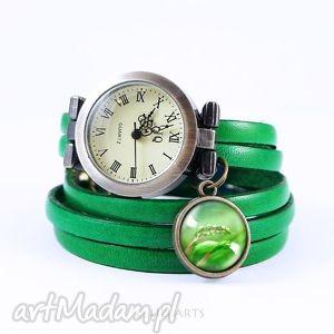 liliarts bransoletka, zegarek - energia natury skórzany, zielony, antyczny