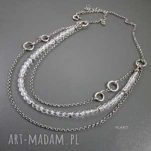 Naszyjnik z kryształu górskiego, kryształ, srebro