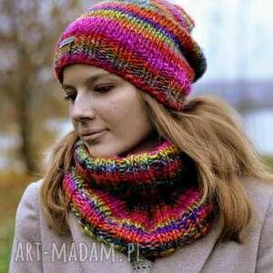 hand-made czapki wielobarwna czapka