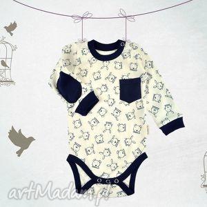 Bawełniane body niemowlęce Zając i Miś, body, niemowlę