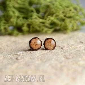maleńkie dębowe kolczyki wkrętki, dąb, siła, drewno, drewniany, sztyfty