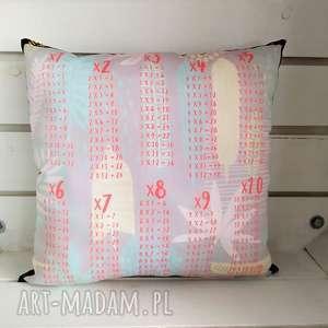poduszka edukacyjna tabliczka mnożenia, poduszka, edukacyjna