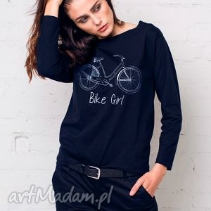 BIKE GIRL Bluzka Oversize, oversize, bluzka, longsleeve, bawełna, casual, moda