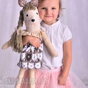 Prezent Przytulanka dziecięca sarenka z warkoczem, dekoracja-pokoju