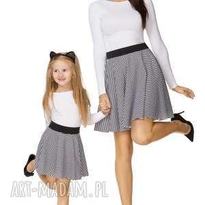 spódnice komplet dla mamy i córki - spódnica z koła na gumce, paski, spódnica