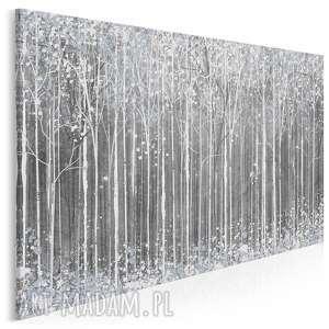 obrazy obraz na płótnie - szary biały abstrakcja - 120x80 cm (84901)