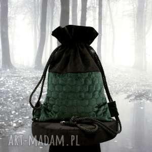 handmade plecak bbag hoody aksamit
