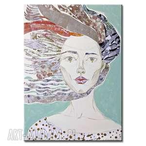 obraz ręcznie malowany na płótnie - wietrze, obraz, ręcznie, malowany, akryl