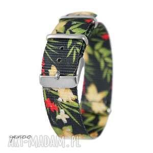 Prezent Pasek do zegarka - nato, nylonowy, dżungla, czarny, pasek, zegarek, nato