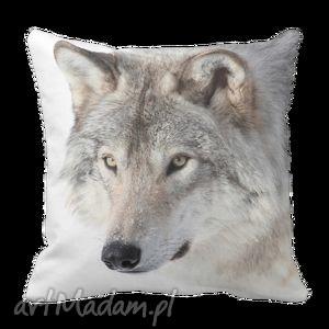 poduszki poduszka dekoracyjna skandynawska szary wilk 6088, poszewka