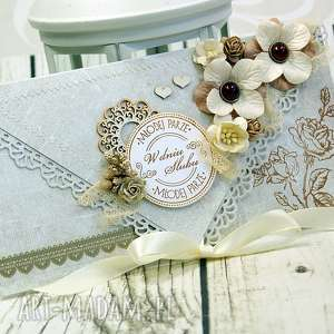 kartka z okazji ślubu- kawa w ogrodzie - ślub, ślubna, kartka, pamiątka