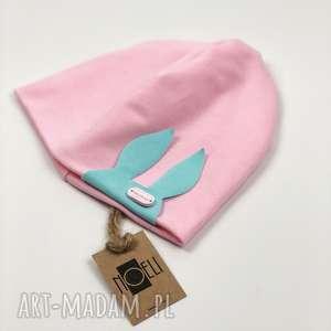 handmade czapki wiosenny komplet czapka i chusta z królikiem