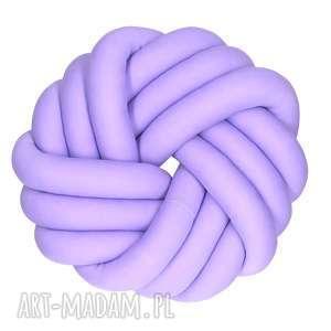 ręcznie pleciona dekoracyjna poduszka supeŁ swirl knotpillow 30x30, supeł