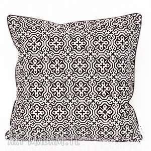 ręcznie zrobione poduszki poduszka marrakech black 40x40cm od majunto