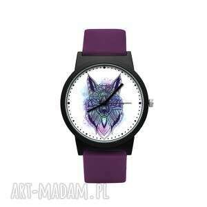 zegarki zegarek z silikonowym paskiem etniczny wilk, zwierzę, las, orientalny