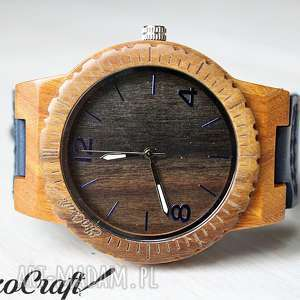Drewniany zegarek EBONY FALCON, zegarek, drewniany, ekologiczny, lekki, elegancki