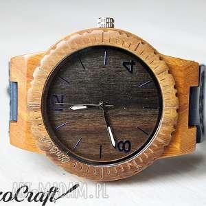Drewniany zegarek ebony falcon zegarki ekocraft zegarek