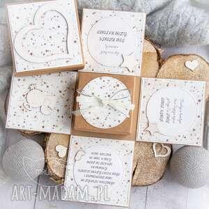 scrapbooking kartki eksplodujące pudełeczko - aniołek stróż narodziny, chrzest