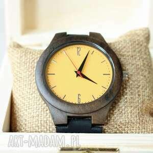 drewniany zegarek goldcrest, drewniany, świąteczny, ekologiczny, prezent, lekki