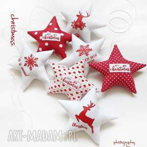 na święta upominek Christmas - gwiazdki do zawieszenia , święta, choinka, gwiazdka