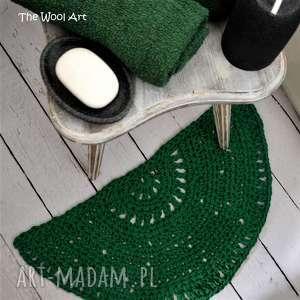 półokrągły dywanik, do-domu, na-szydełku, za-sznurka
