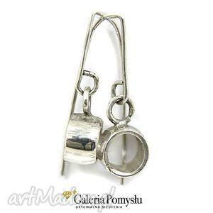 Kolczyki srebrne, kolczyki, koła, srebro, 925
