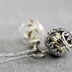 925 srebrny dzwoneczek nasiona dmuchawca, kulka, nasiona, dmucawiec, srebro