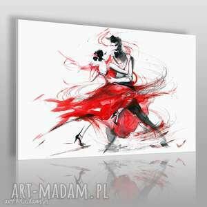 obrazy obraz na płótnie - abstrakcja tango 120x80 cm 14701, obraz, tango, taniec